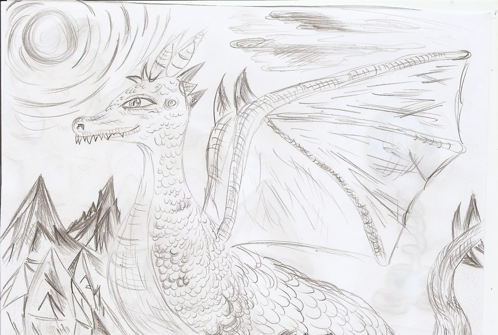 Pokémon-Zeichnung: Drachilein
