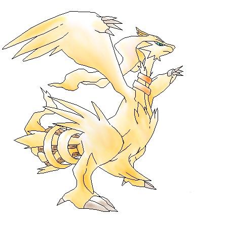 Pokémon-Zeichnung: Reshiram-Colo