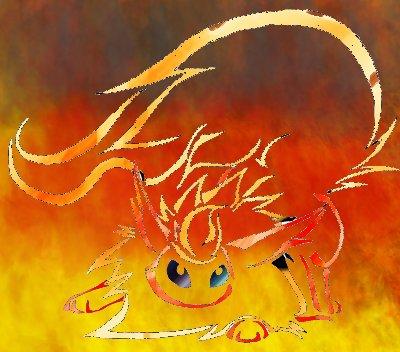 Pokémon-Zeichnung: Flareon