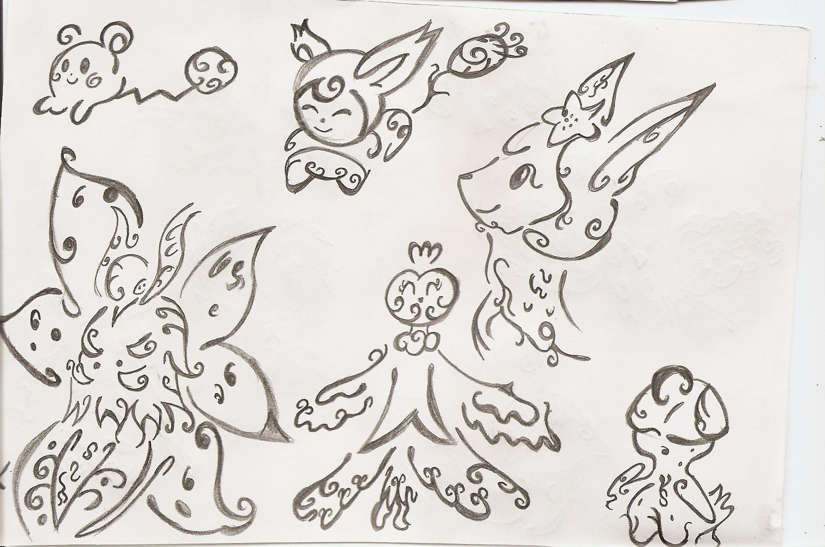 Pokémon-Zeichnung: Neue Tattoo sheet