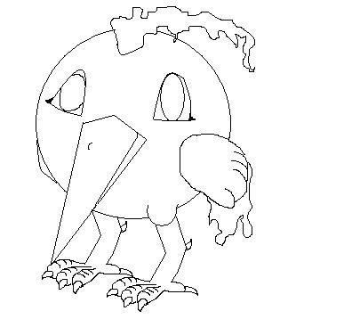 Pokémon-Zeichnung: Lavados Outline