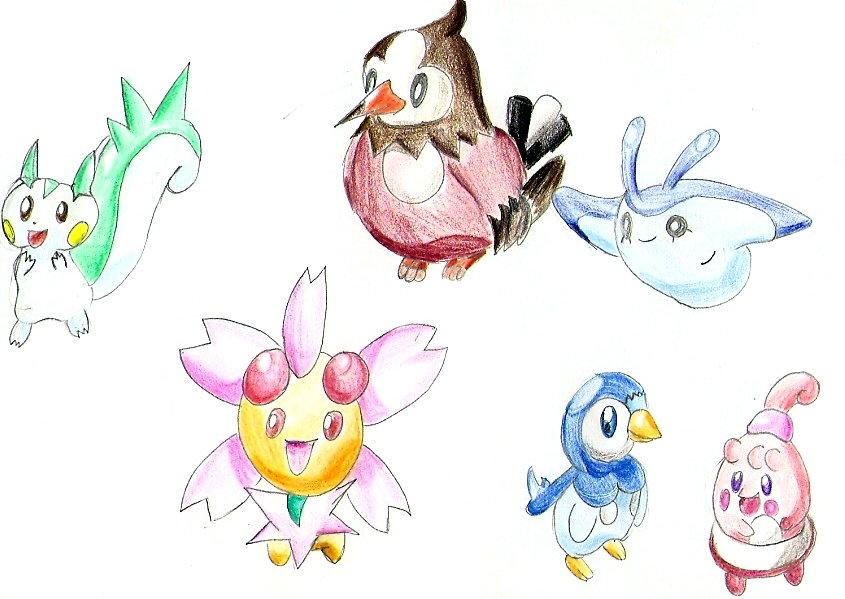 Pokémon-Zeichnung: Klein und fein