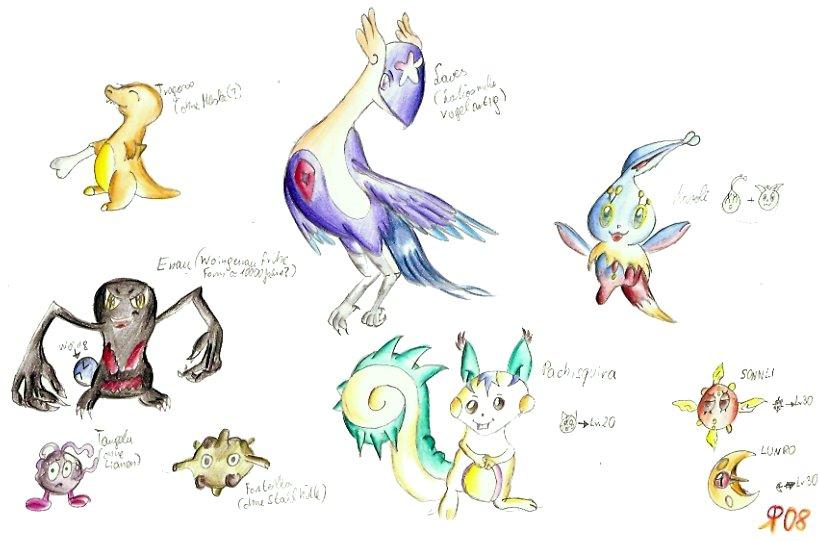 Pokémon-Zeichnung: Pokemon und ihre wahre Gestalten