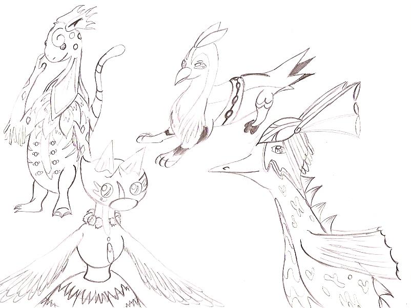 Pokémon-Zeichnung: Pokemonfusionen gezeichnet