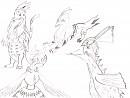 Pokemonfusionen gezeichnet