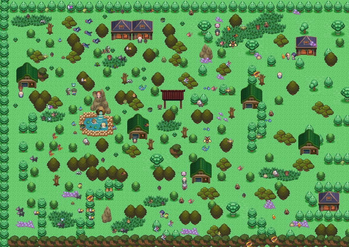 Pokémon-Map: Map für Wb das Walddorf