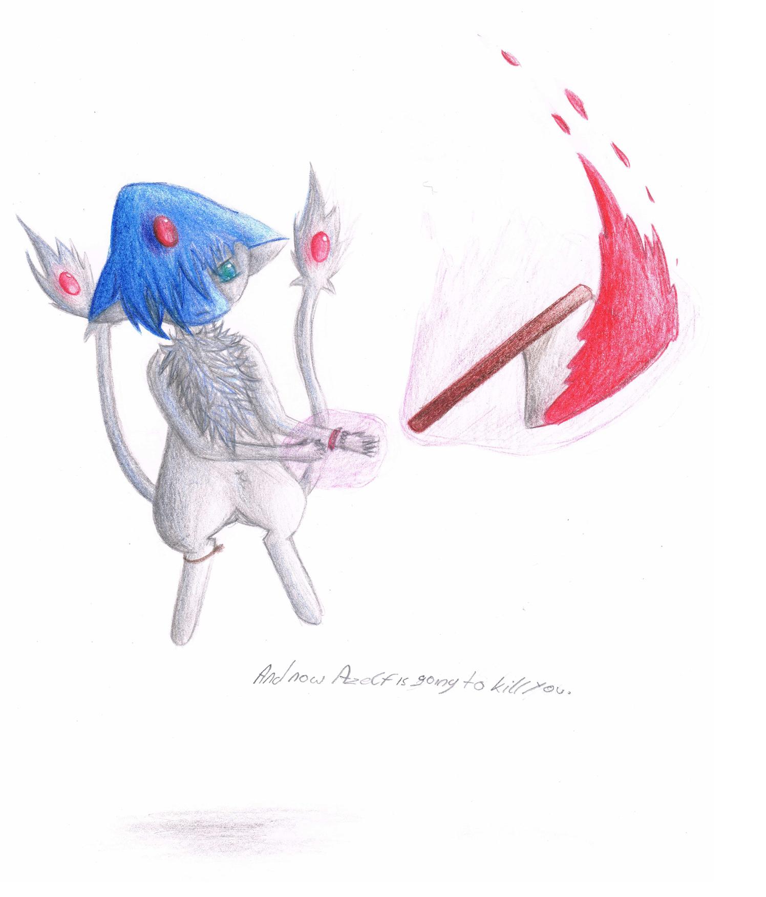 Pokémon-Zeichnung: Azelf