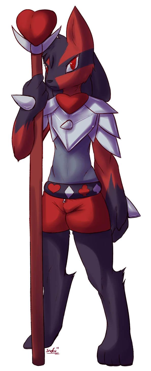 Pokémon-Zeichnung: Herz Soldat Lucario