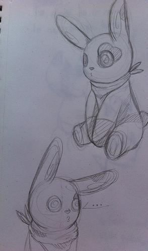 Pokémon-Zeichnung: Pandirs.