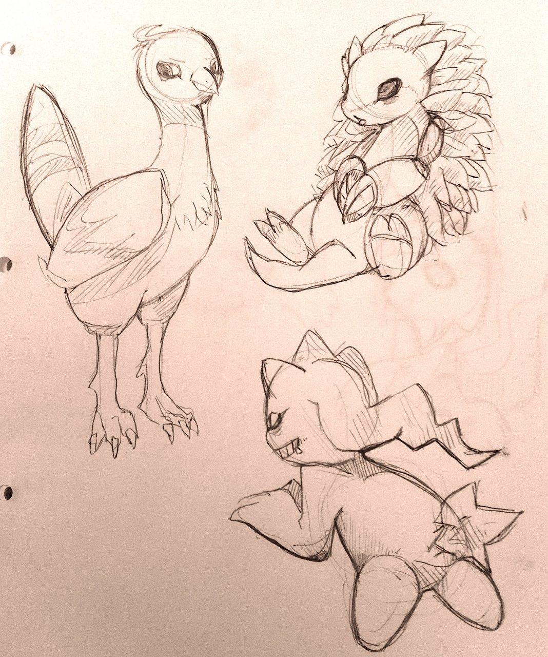 Pokémon-Zeichnung: BW2 Pokemon Team