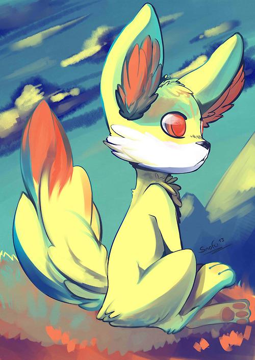 Pokémon-Zeichnung: Fennekin