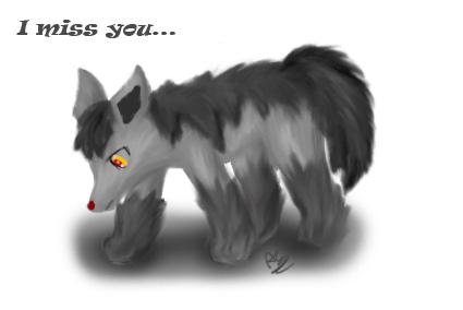 Pokémon-Zeichnung: Miss you...