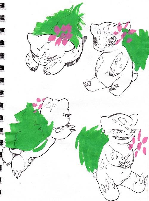 Pokémon-Zeichnung: Bisas
