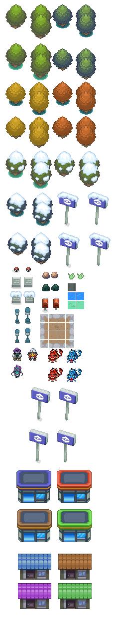 Pokémon-Tileset: HG/SS + Tileset²
