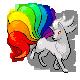 Vulnona in Regenbogenfarben