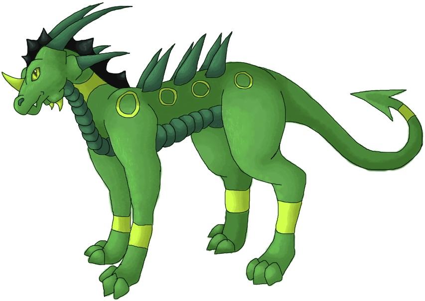 Pokémon-Zeichnung: Drachenkrokodil
