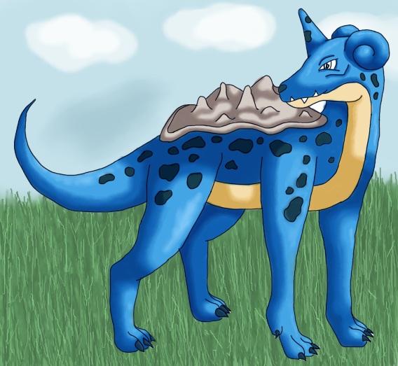 Pokémon-Zeichnung: Lapras als Hund