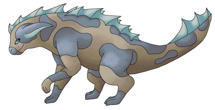 Pokémon-Zeichnung: Wasser-Boden-Fakemon