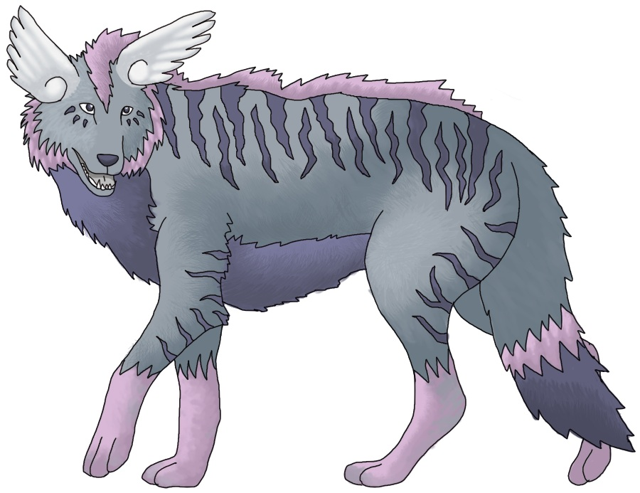 Pokémon-Zeichnung: Flügelwolf