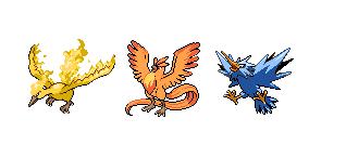 Pokémon-Zeichnung: Vögel Trio (2)