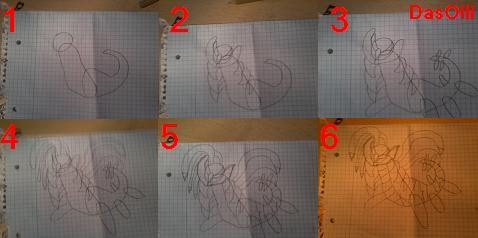 Pokémon-Zeichnung: Giratina Zeichnung (Step 4 Step)