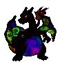 Glurak Newcolor aus dem Anfänger Sprite-WB