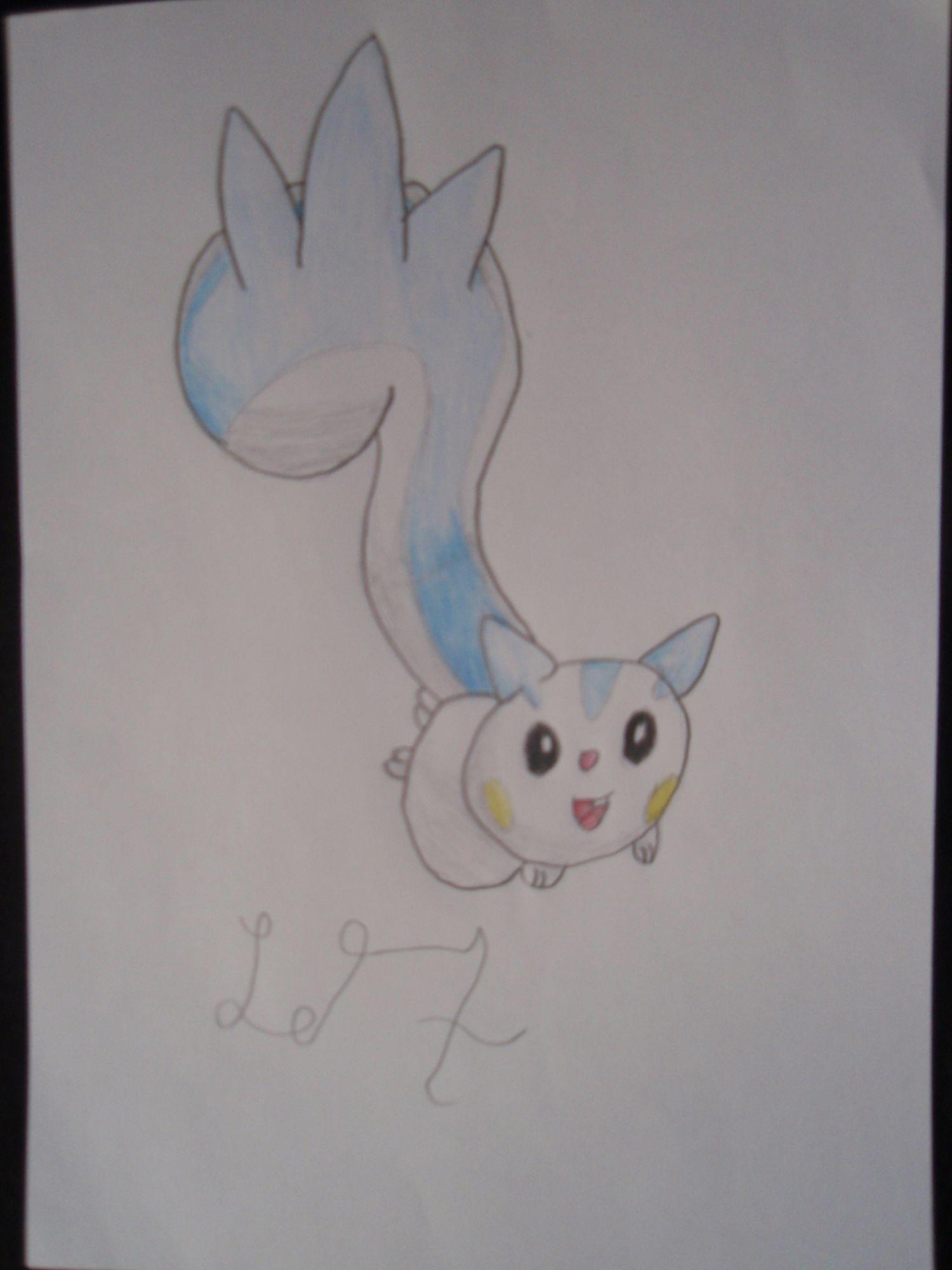 Pokémon-Zeichnung: Pachirisu ZEichnung