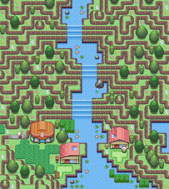 Pokémon-Map: Berglandschaft
