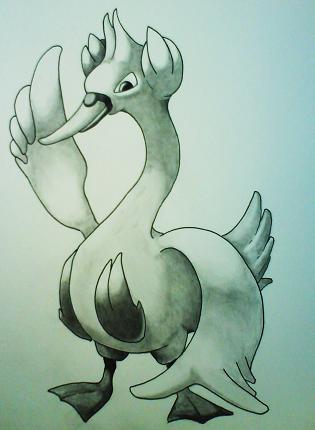 Pokémon-Zeichnung: Swana