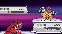 Pokémon-Fanart: Groudon Vs. Raikou