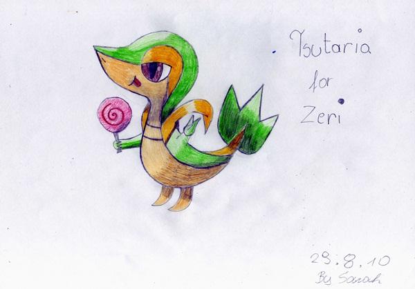 Pokémon-Zeichnung:  Tsutarja