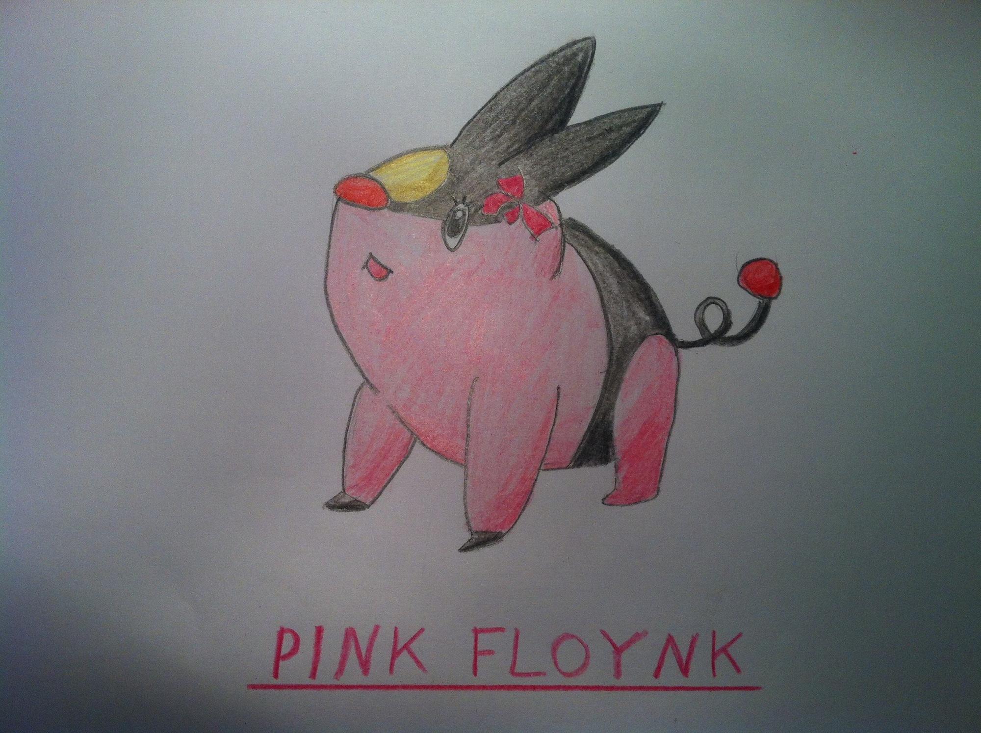Pokémon-Zeichnung: Pink Floynk