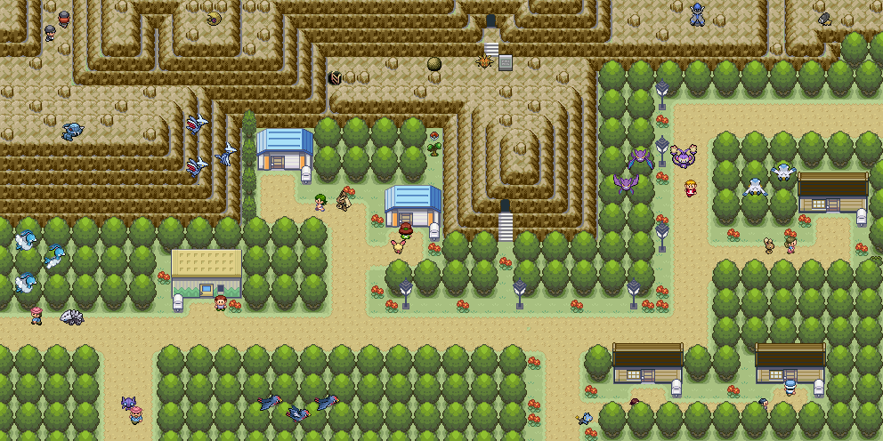 Pokémon-Map: Berg-Tal Map...