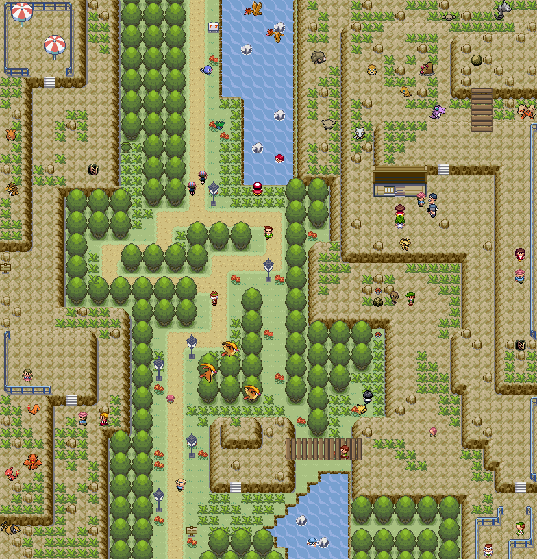 Pokémon-Map: Kanto Nationalpark Teil 1