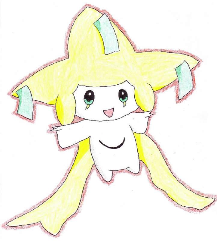 Pokémon-Zeichnung: Jirachi - Selfdrawn