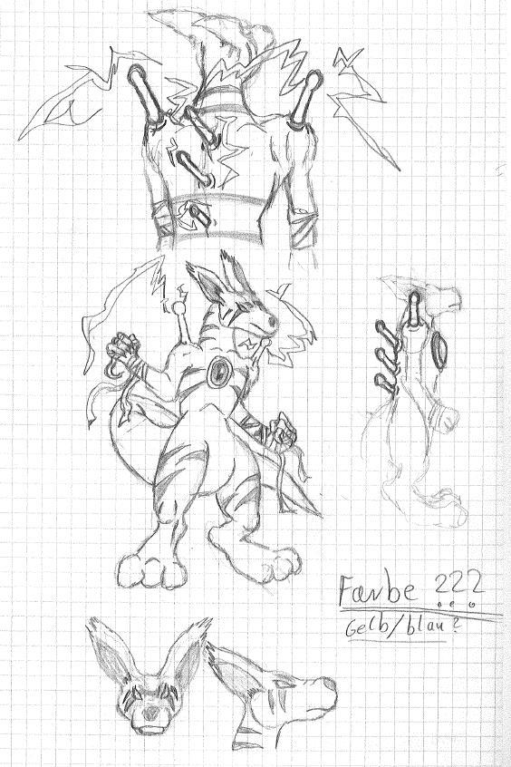 Pokémon-Zeichnung: Erfinde Dein Pokemon 3 / Skizze/Entwurf