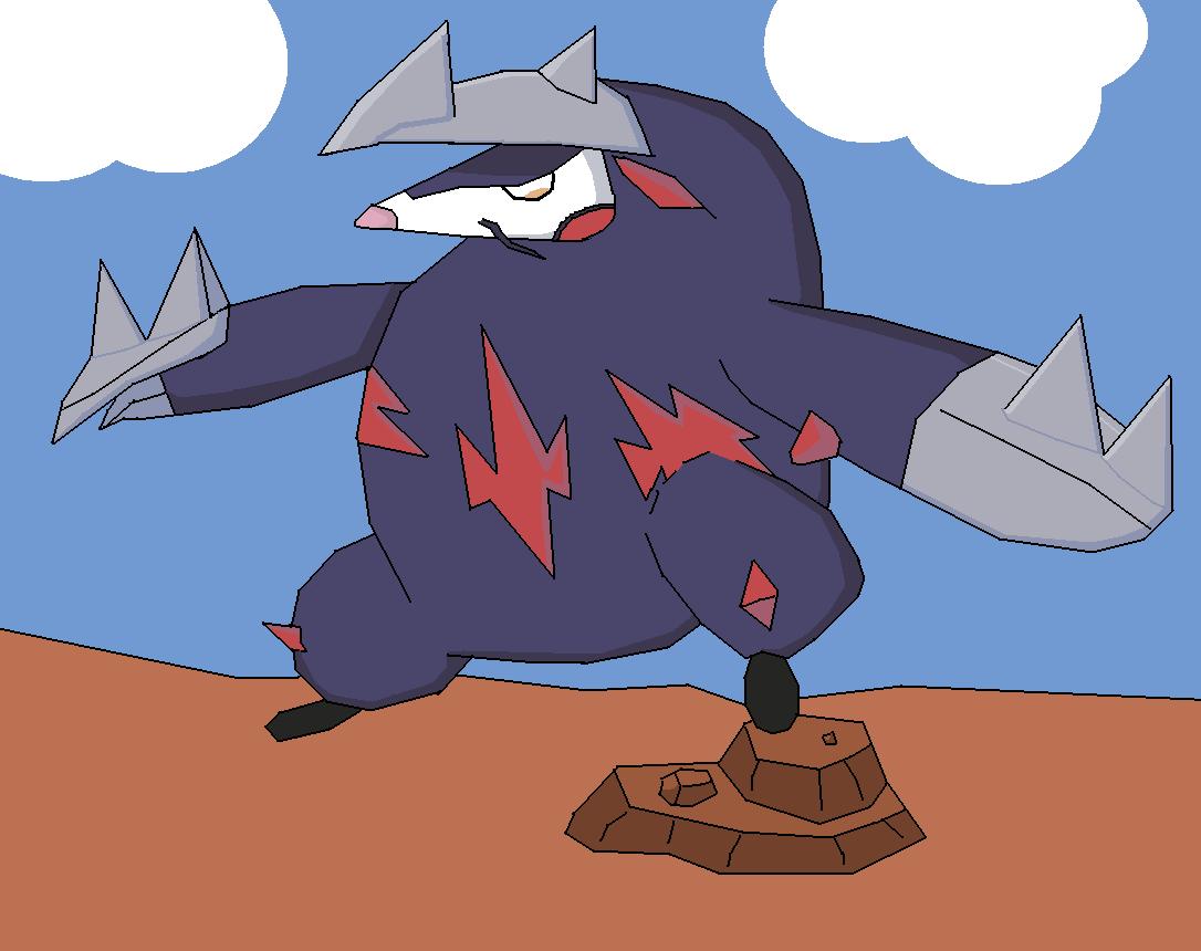 Pokémon-Zeichnung: Maulwurf, Ding