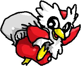 Pokémon-Zeichnung: Weihnachts Botogel