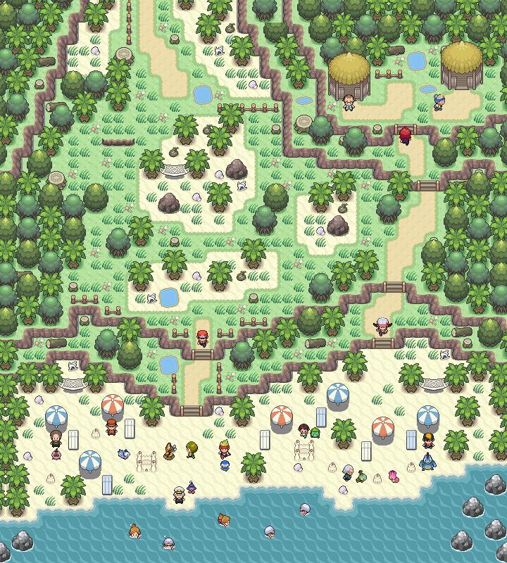 Pokémon-Map: Mapping Wettbewerb #11 - Strand Ideenklau