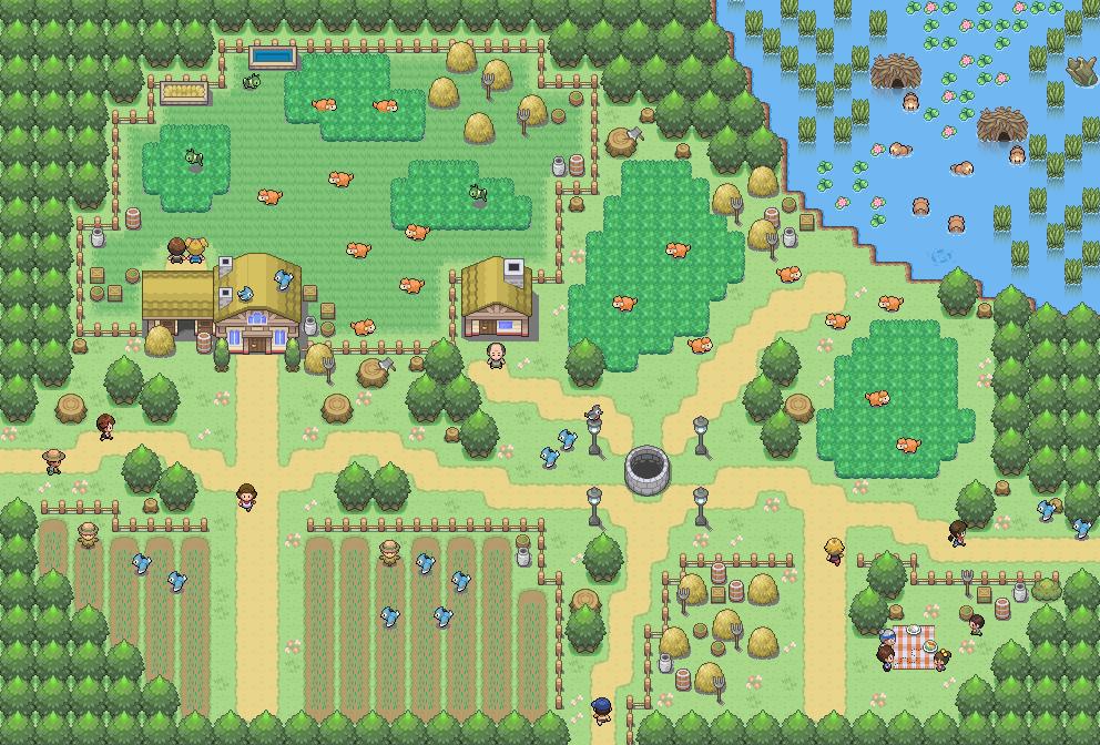 Pokémon-Map: Mapping Wettbewerb #13 - Bauernhof
