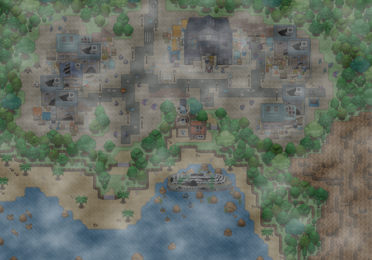 Pokémon-Map: Geisterstadt
