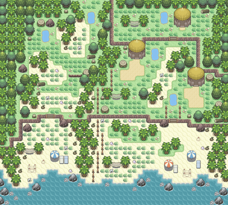 Pokémon-Map: Sunny Beach