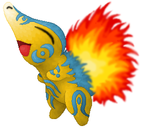 Pokémon-Zeichnung: Feurigel für Eishauch
