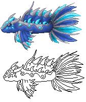Pokémon-Zeichnung: Stahl-Fisch