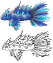 Stahl-Fisch