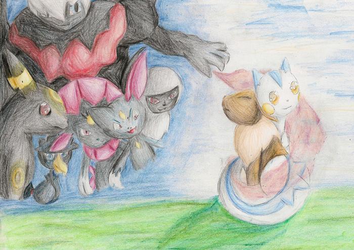 Pokémon-Zeichnung: Asmaros 17 Wächter