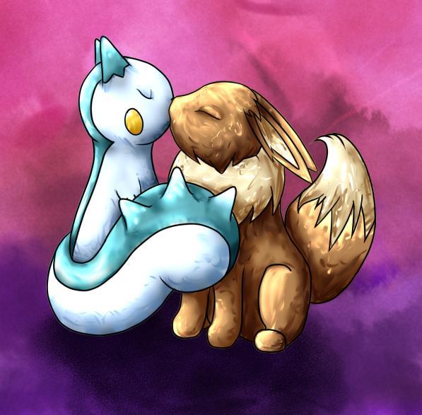 Pokémon-Zeichnung: Sayori x Kai