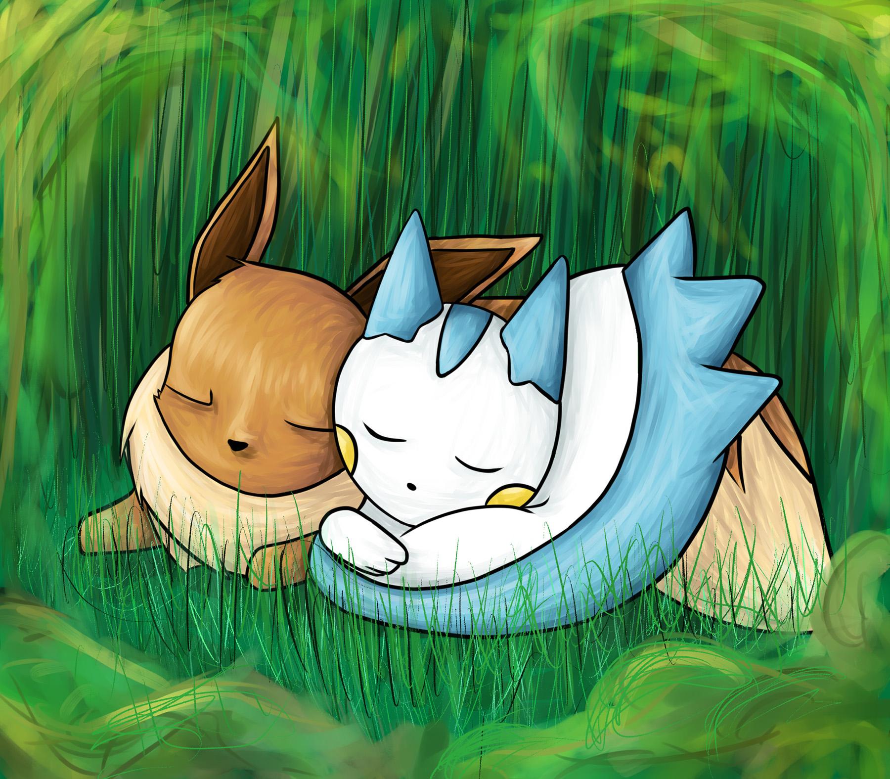 Pokémon-Zeichnung: Sayo x Kai