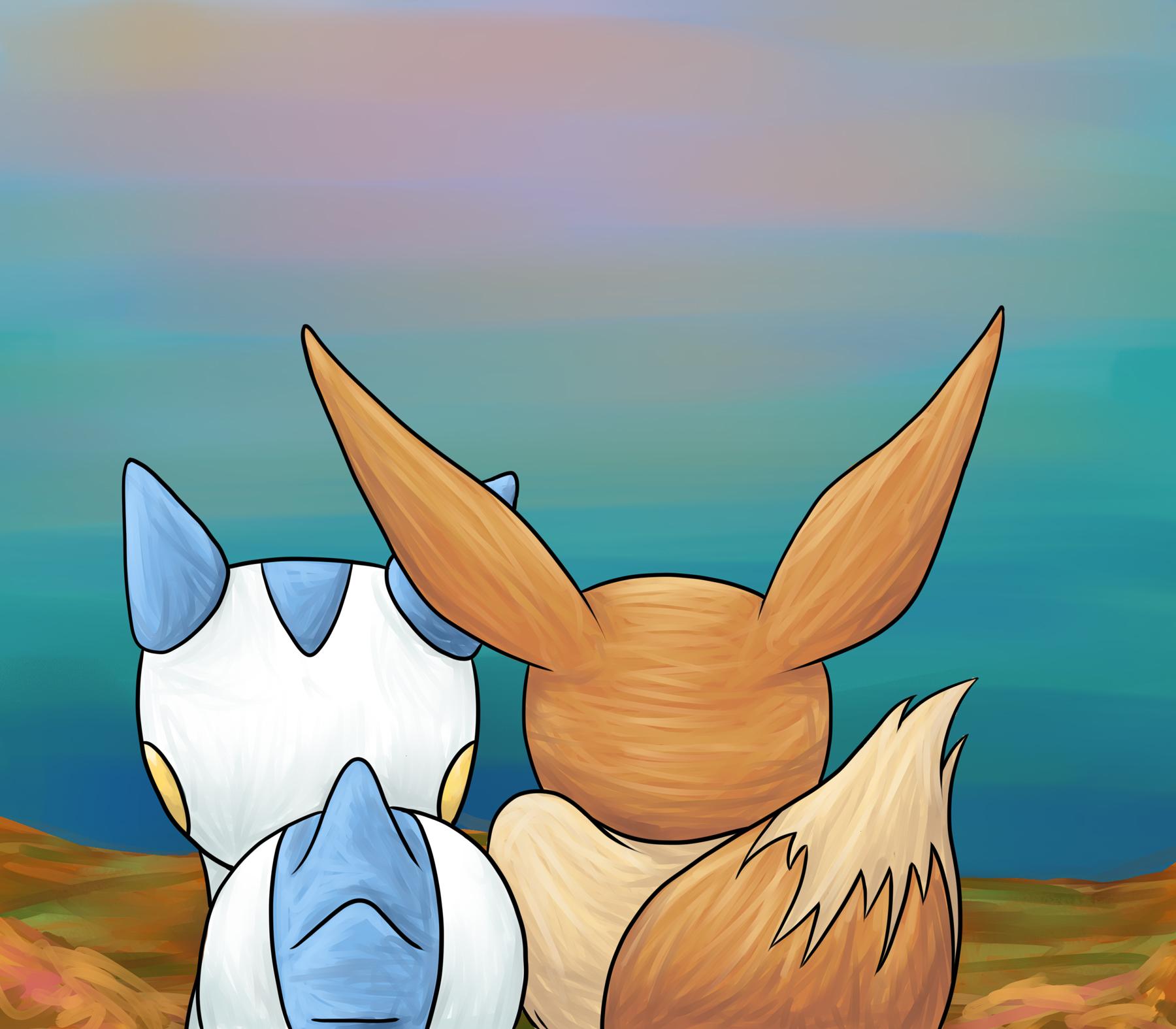 Pokémon-Zeichnung: sayo und Kai 3