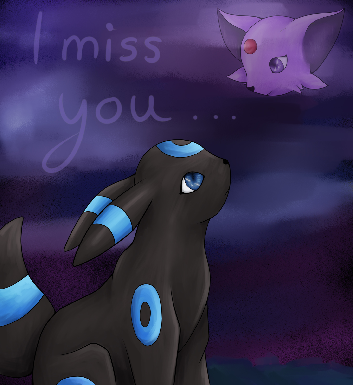 Pokémon-Zeichnung: I miss you...
